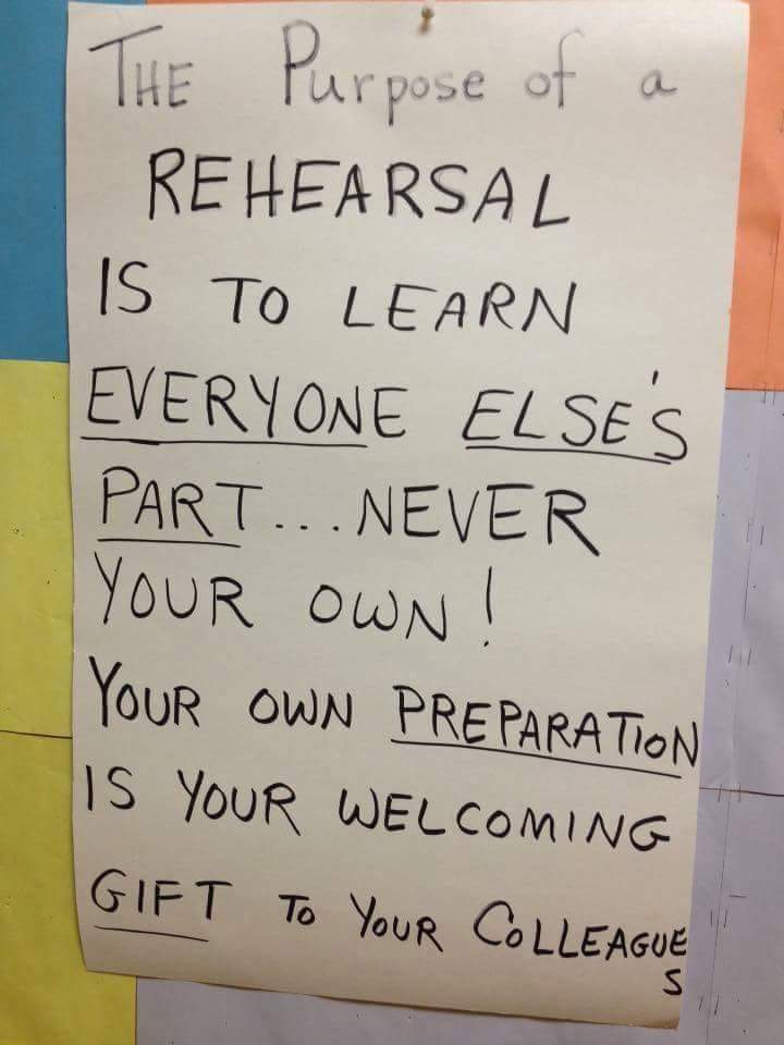 purpose of a rehearsal